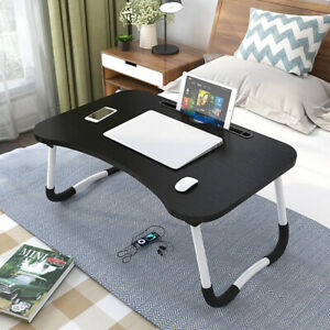 Folding Laptop Table Stand Bed Computer Desk Bed Picnic Stand Notebook Tray Home