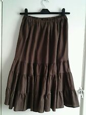Ladies knee length brown gypsy skirt. Size 12.