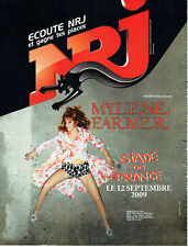 Publicité Advertising 078  2008   concert Mylène Farmer stade France & radio NRJ