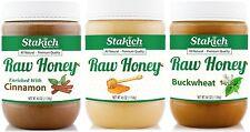 GIFT 40 oz Raw Honey + 40 oz Cinnamon Honey + 40 oz Buckwheat Honey Value Pack