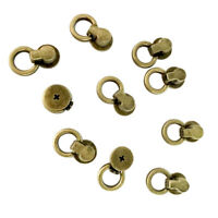10pcs Metal Rivet Screw Back O-ring Buckle Clothing Hats Repair Copper