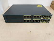2x CISCO CATALYST 2960G - WS-C2960G-24TC-L - IOS 15.0 LANBASE - JOBLOT
