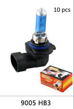 Lot 10 Ampoules Effet Xenon 9005 HB3 6000K 100w 12V (CE)