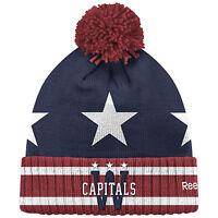 WASHINGTON CAPITALS 2015 NHL WINTER CLASSIC REEBOK CUFFED POM KNIT HAT TOQUE