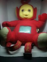Teletubbies red backpack bag purse Plush doll figure (used) rare vintage