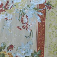 Fabric Remnant - 1 Metre X 150 Cm Multicoloured Floral 100 Cotton Fabric
