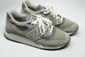 New Balance Running Shoes Gray Made in USA W998G Women's 9 -B Men's 7.5 (M998)