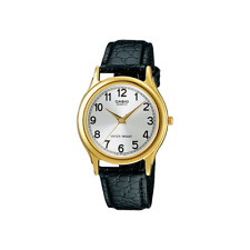 Orologio CASIO mod. MTP-1093Q-7B1 Classic vintage Uomo in pelle nero e cassa oro