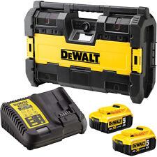 DeWalt DWST1-75663 14.4-18V USB Jobsite Radio with 2 x 5.0Ah Batteries & Charger