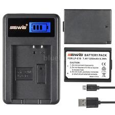 LP-E10 Battery & USB Charger for Canon EOS 1200D 1100D Rebel T3 T5 Kiss X50 B9L1