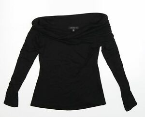 Forever New Womens Black  Knit Pullover Jumper Size M