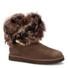UGG Australia Flat (less than 0.5') Fur Boots for Women