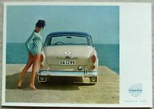 """More details for volvo 122 s colour 8 ¼""""x 5 ¾"""" postcard early 1960's #ur 6826"""