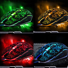 4000DPI Adjustable Optical LED Wired Gaming Game Mice Mouse For Laptop PC Parts
