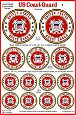 13 Us Coast Guard Emblem Decal Stickers. Laminated for Durability, Various Sizes