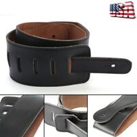 Adjustable Soft PU Leather Strap Belt For Electric Acoustic Guitar Bass US STOCK