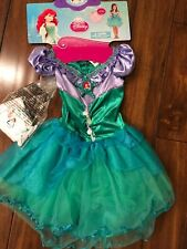 Disney Princess Ariel Costume New Size Sm With Accessories