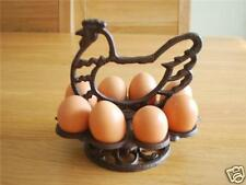 Cast Iron Chicken Hen Boiled Egg Holder Table Decor Country Style Rustic