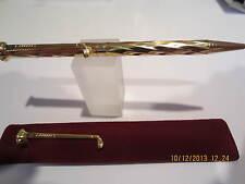 Terzetti GOLF Gold Swirl Pattern Ballpoint Pen+ Velvet Pouch