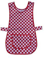 Tabard / Tabbard Apron Catering Cleaning Workwear - Red & White Checked