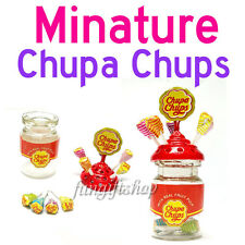 Dollhouse Miniature Lollipop Holder Chupa chups Bottle Candy Sweet