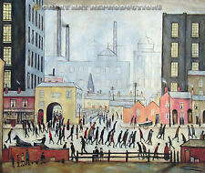 """Coming From the Mill, L.S. Lowry, Reproduction in oil,  48""x40"""