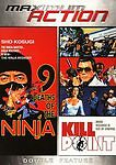 9 Deaths Of the Ninja & Kill Point Double Feature DVD Sho New Very RARE