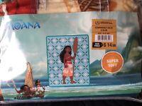 "New Disney Moana Plush Baby Raschel Throw Super Soft Blanket 43.5"" X 55"""