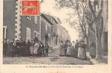 CPA 11 PEYRIAC DE MER CARREFOUR DE NARBONNE ET DE SIGEAN (cpa animée)