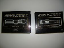 STAR WARS RARE MASTER REPLICAS VADER & OBI WAN LIGHTSABER BOXS ONLY WITH COA.