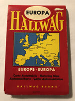 "Hallwag Vintage 1960's Map of Europe 43""x 32"" Extended Folded 8""x 5"" Collectib"