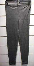 Leggings Size Large Xlarge Dark Gray Footless Sexy Stretch Cotton Pant NWT BV391