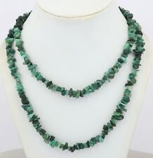 Natural Gemstone Emerald Uncut Chips Freeform Nugget Beaded Necklace Jewelry 66A