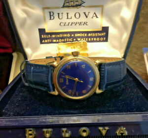 Vintage 1954 L4 Bulova Clipper Selfwinding Mens Watch Signed Buckle,Box,Serviced