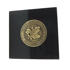 Bronze OAK LEAF United States Navy Supply Corps Challenge Coin Acrylic Gel Award