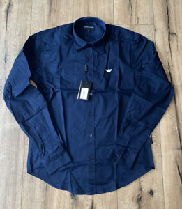 Emporio Armani Navy Blue Shirt (Slim Fit) Size Large