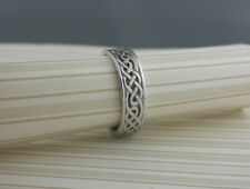 IRISH STERLING SILVER CELTIC KNOT WEDDING RING MADE IN IRELAND BORU