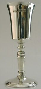 NICE QUALITY ENGLISH SOLID STERLING SILVER GOBLET CHALICE 1973 ENGLISH