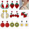 Fashion Women Delicious Fruit Acrylic Pendant Dangle Ear Studs Earrings Jewelry