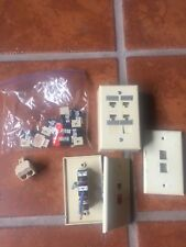 Leviton QuickPort Assorted CAT5 CAT 3 Connectors, with extra RJ11 adapter.