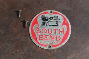 """South Bend Drill Press 14"""", South Bend Metal Tag 2 5/8"""" Round w/ Hdwe, Nice!"""