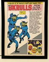 Skrulls Fantastic Four by Jack Kirby 9x12 FRAMED Marvel Comics Vintage Art Print