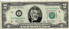 Kenny Rogers $2 Dollar bill Mint real