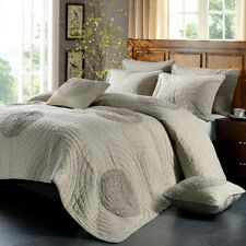 Luxury 100% Cotton Coverlet / Bedspread Set King & Super King Size Bed 240x260cm