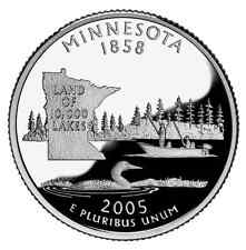 2005 S SILVER GEM PROOF MINNESOTA STATE QUARTER 90% SILVER