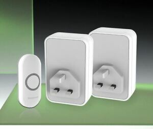 Honeywell / Friedland 150m Wireless Twin Plug-in Doorbell kit.