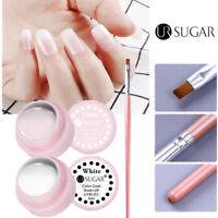 2pcs Pure Color Soak Off Nail Art UV Gel Polish Acrylic Pink Gel Brush UR SUAGR
