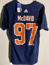 adidas  NHL T-Shirt Edmonton OIlers McDavid Navy sz L