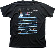 Adventure Time Donkey Kong Arcade game 80s retro black t-shirt FN9853