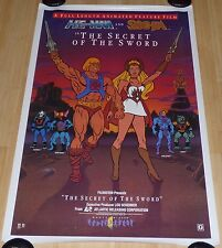 HE-MAN AND SHE-RA THE SECRET OF THE SWORD 1980s ORIG ROLLED VIDEO MOVIE POSTER